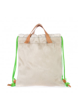 womens backpack bng real shoes cavallino beige white