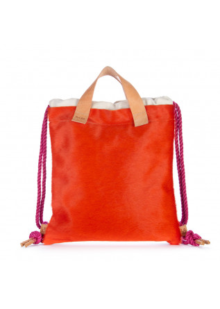 womens backpack bng real shoes cavallino orange black