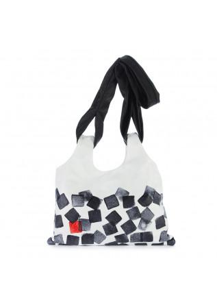 shoulder bag papucei dosti white black