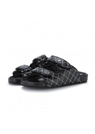 womens slider sandals bibi lou tama black