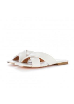 womens slider sandals bibi lou white