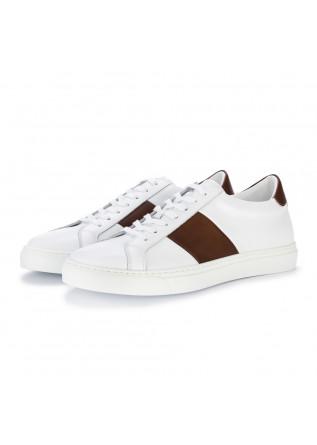sneakers uomo manovie toscane bianco marrone
