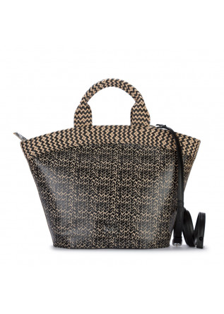handbag gum chiarini breeze beige black