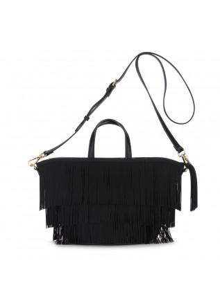 handbag gum chiarini cabas fringe black