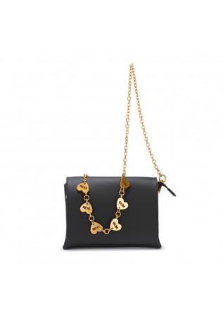 crossbody bag gum chiarini heart chain black
