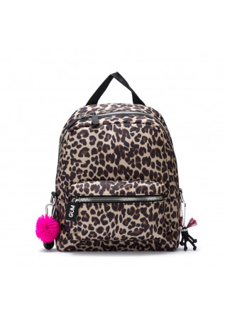 womens backpack gum chiarini camera leopard