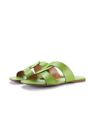 womens sandals miss unique limao green