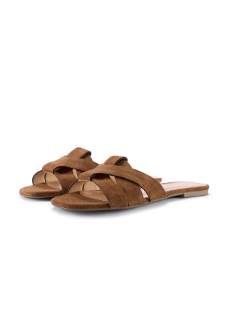 womens sandals miss unique whisky brown