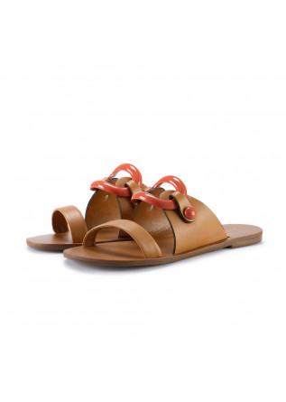 womens sandals miss unique baltico brown orange