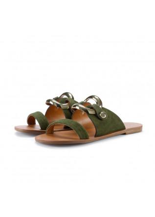 womens sandals miss unique camurcao leccio green