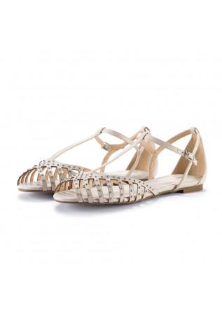 womens sandals miss unique smoothie cream white