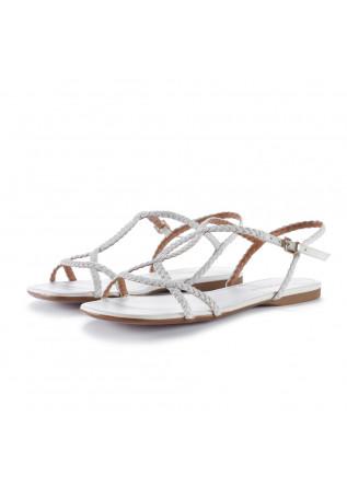womens sandals miss unique branco white