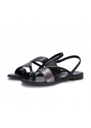sandali donna bueno nero metallizzato
