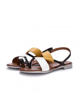 womens sandals bueno white yellow black