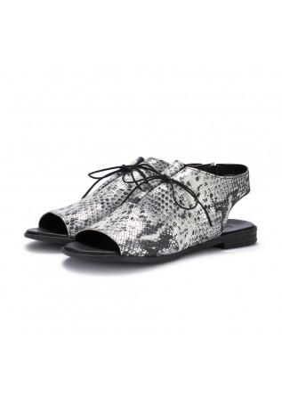 sandali donna bueno nero bianco argento