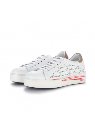 womens sneakers bueno white brown inscription