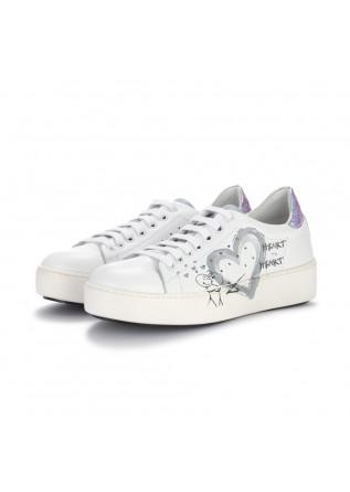 sneakers donna bueno bianco argento cangiante