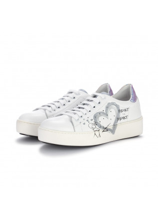 womens sneakers bueno white silver iridescent