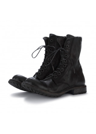 womens lace up ankle boots moma cusna black
