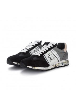 womens sneakers premiata lucyd black white grey
