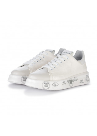 sneakers donna premiata belle bianco panna