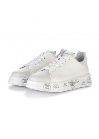 womens sneakers premiata belle cream white