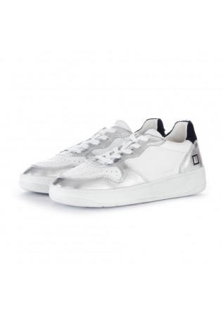 damensneakers date court pop weiss silber