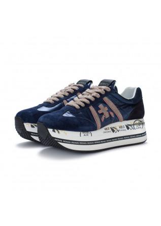 womens sneakers premiata beth blue