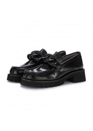 scarpe platform poesie veneziane abrasivato nero