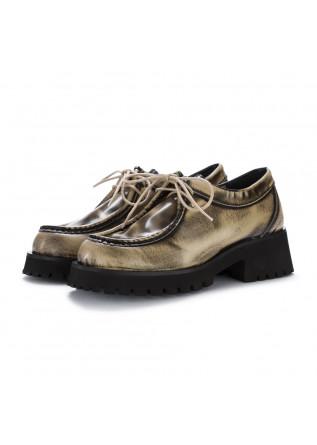 scarpe platform poesie veneziane abrasivato beige nero