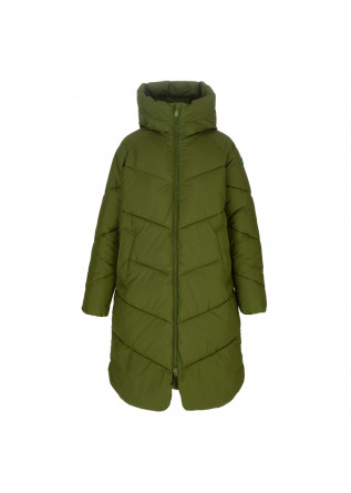 womens puffer jacket save the duck jacelyn green