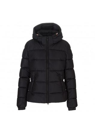 womens puffer jacket save the duck tess black