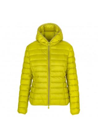 womens puffer jacket save the duck alexis lemongrass