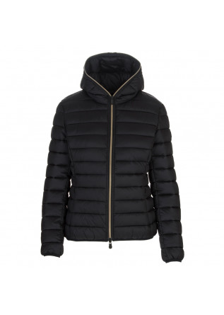 womens puffer jacket save the duck alexis black