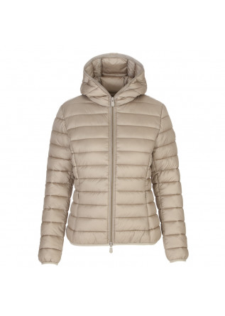 piumino donna save the duck alexis beige