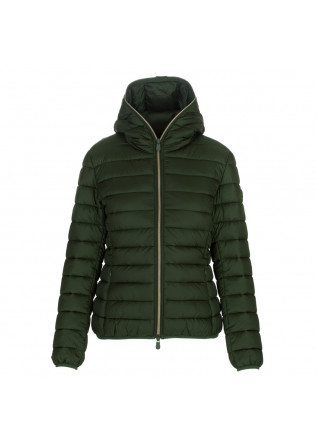 womens puffer jacket save the duck alexis green