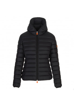 womens puffer jacket save the duck daisy black