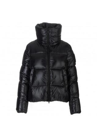 womens puffer jacket save the duck isla black