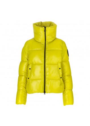 womens puffer jacket save the duck isla lemongrass