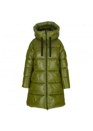 womens puffer jacket save the duck isabel green