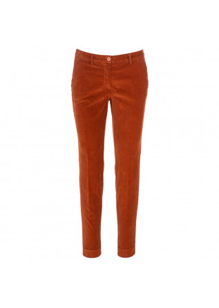 pantaloni donna masons new york arancione mattone