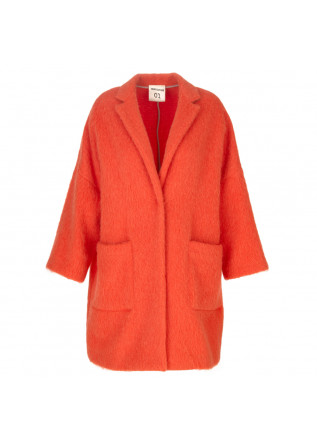 womens coat semicouture orange