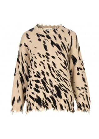 womens sweater semicouture beige black