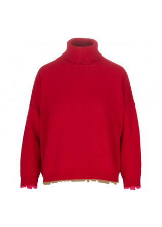 womens sweater semicouture red