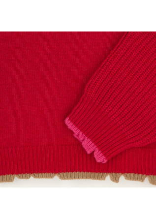 DAMEN PULLOVER SEMICOUTURE | Y1WC41 ROT