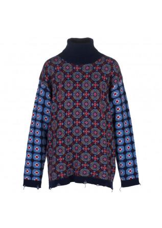 womens sweater semicouture blue multicolor