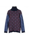 WOMEN'S SWEATER SEMICOUTURE   Y1WE11 BLUE MULTICOLOR