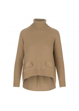 maglione donna semicouture marrone chiaro