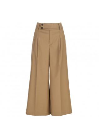 pantaloni palazzo semicouture marrone chiaro