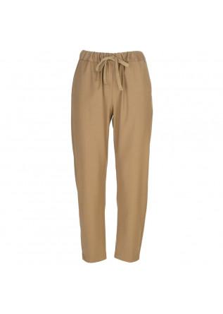 pantaloni donna semicouture marrone chiaro